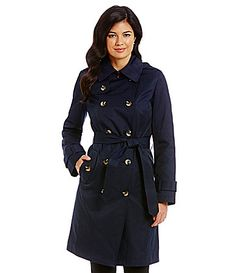 London Fog Double Breasted Trench Coat #Dillards