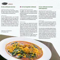 Receta arroz caldoso. Gastronomía de El Campello (libro les Receptes de la Iaia)