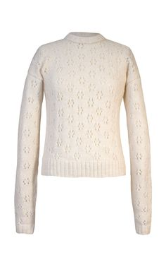 Marieta Cashmere Wool Pullover by ALEJANDRA ALONSO ROJAS for Preorder on Moda Operandi