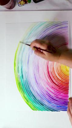 Watercolor Art Lessons, Watercolor Paintings, Watercolor Paint Set, Watercolour, Art Drawings Sketches Simple, Sketch Drawing, Colorful Drawings, Drawing Ideas, Diy Canvas Art
