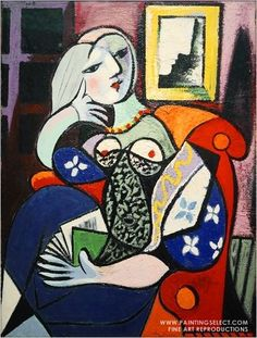 One of my favorite pieces...and I saw her on display in pasadena! Woman with a book by Pablo Picaso