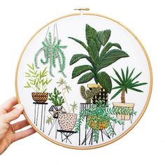 Plants and Daily Life Scenes Embroideries – Fubiz Media