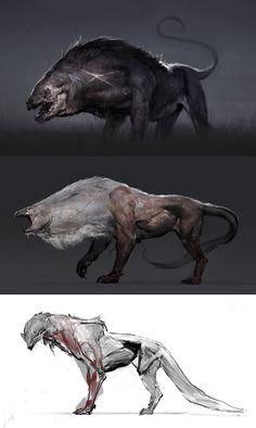 Jirgnū, agressive herd omnivores