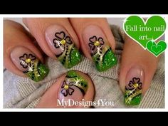 How to: Baby Boomer Nails French fade tutorial Nail Art Designs, New Nail Art Design, Toe Designs, Emerald Nails, Gold Nails, Green Nail Art, Green Nails, Glitter Nail Art, Nail Art Diy