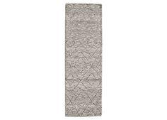Double Diamond Moroccan Wool Rug - Grey