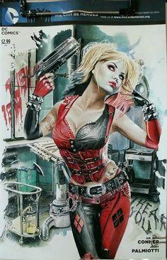 "imthenic: ""Harley Quinn by Natali Sanders "" Comic Book Characters, Female Characters, Comic Books, Der Joker, Hq Dc, Dc Memes, Comic Pictures, Batman Arkham, Arkham Knight"