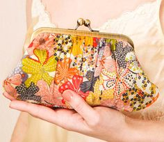 Liberty Mauvey clutch purse. I love this fabric!!