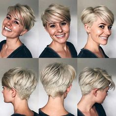 The Short Pixie Cut - 20 Great Haircuts You'll See for 2019 - Cute Cut - Frisuren Short Pixie Haircuts, Short Hair Cuts, Thick Hair Pixie, Blonde Pixie Haircut, Edgy Pixie Cuts, Cute Pixie Cuts, Blonde Pixie Cuts, Great Haircuts, Cute Cuts