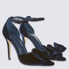 Velvet? Check. Bow detailing? Check. These Marks & Spencer heels are pretty much everything we're looking for in an evening shoe right now, nailing all the major trends (teal and navy are seriously hot right now) and adding the perfect girly detail to any night-time look.