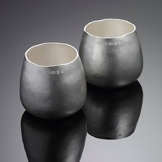 Whisky tumblers - always a favourite! in silver by Phil Jordan