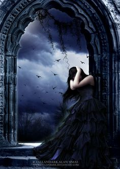 ___╋ I love Gothic ╋___ Dark Gothic Art, Gothic Fantasy Art, Fantasy Kunst, Beautiful Dark Art, Dark Love, Alone Photography, Dark Photography, Dark Fairy Costume, Gothic Drawings