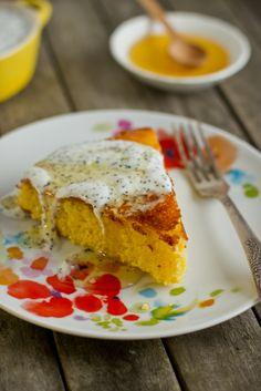 Ciasto cytrynowe z kaszki kukurydzianej Polenta, Sweet Recipes, French Toast, Cooking, Breakfast, Healthy, Ethnic Recipes, Food, Kitchen