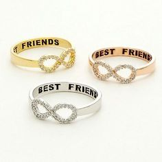 Same Day Shipping Infinity Ring, Best Friends ring, Infinity Sister, BFF Bff Rings, Tiny Rings, Cute Rings, Bff Necklaces, Best Friend Necklaces, Best Friend Jewelry, Friend Bracelets, Cute Jewelry, Silver Jewelry