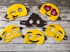 Emoji Felt MasksWe're so excited to offer our own take on this movie with 6 unique felt eye masks! Emoji Mask, Emoji Costume, Emoji Movie, Crayon Holder, Felt Mask, Childhood Movies, Thing 1, Toddler Halloween Costumes, Halloween Season