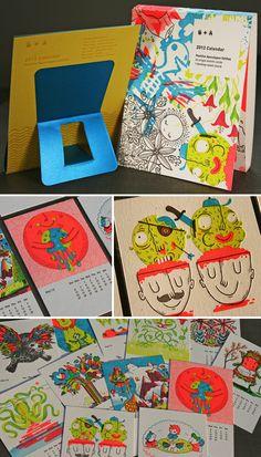 """Positive Apocalypse"" 2012 Studio on Fire Letterpress Calendar | Jolby & Friends"