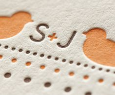 so cute #letterpress #wedding #invitation #monogram #cottonpaper #design