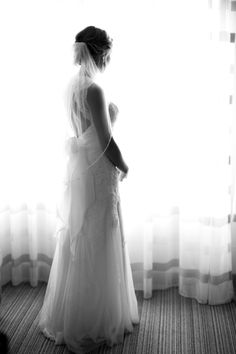 Bride Getting Ready in her wedding dress | Sadie Such Photography