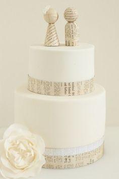 Torta semplice con cake topper