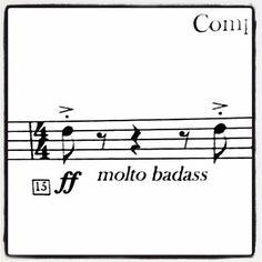 Start the year right.  #starttheyearright #badass #verybadass #funny #lol #picoftheday #newyear #happynewyear #2016 #sheetmusic #music #musician #bandlife #musiclife #forte #doubleforte #ff #play #makethemostofit #boom #band #classicalmusic #classicalmusician #hello #hello2016 #instamusic #instagood #classic #listen #doit by hansmaestromusic