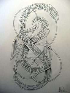 celtic by knotty-inks on DeviantArt – Tattoos Viking Dragon, Celtic Dragon, Viking Art, Viking Designs, Celtic Designs, Celtic Tattoos, Viking Tattoos, Tattoo Symbols, Celtic Symbols