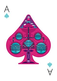 Versus Illustration Playing Cards by Barney Ibbotson, via Behance