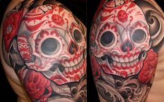 #InkedMag #Tattoo of the Day 6/7 #Inked #tattoos #tattooed #skull #skulls #diadelosmuertos #sugarskull