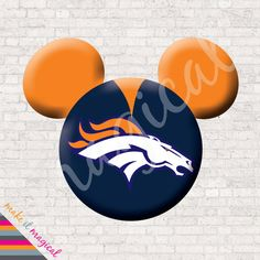 Broncos Mickey Mouse Head Digital Download Denver by MakeitMagical