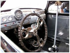 Can't find a steering wheel I like? Make my own. This is great inspiration.
