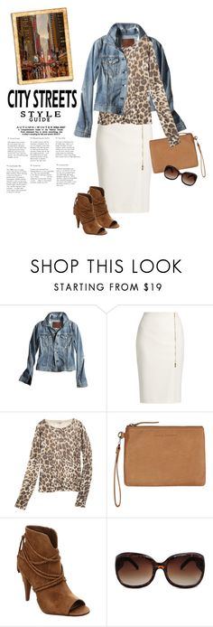 """""""Fall Style"""" by youaresofashion ❤ liked on Polyvore featuring AG Adriano Goldschmied, MaxMara, Calypso St. Barth, Status Anxiety, Vince Camuto, City Streets, MANGO, jeanjackets and fallstyle"""