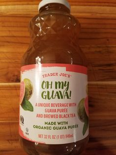 Trader Joe's Oh My Guava is in the drinks aisle and isn't as sweet as it sounds. But it's pretty good. My full review follows with pictures and product info