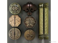 Chinese Element, Chinese Landscape, Asian Furniture, Oriental Style, Door  Handles, Pull Handles, Chinese Antiques, Chinese Style, Antique Copper
