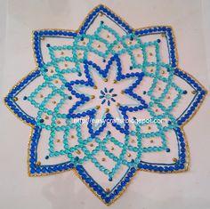 Easy Crafts - Explore your creativity: Navratri kolams/rangolis in kundan