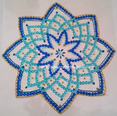 Easy Crafts - Explore your creativity: Navratri kolams/rangolis in kundan