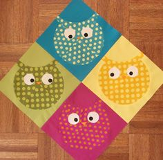 Made my own version of the Roly Poly Owl block. They are adorable, if I say so myself. :)