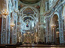 Palermo - Interno della chiesa del Gesù, detta Casa Professa
