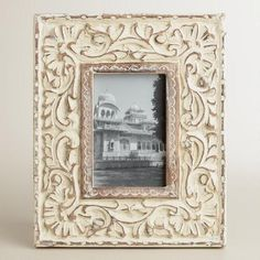 One of my favorite discoveries at WorldMarket.com: Whitewash Floral Abigail Frame