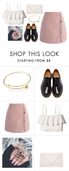 """white pink"" by stereocristiana on Polyvore featuring Dr. Martens, Chicwish and Hollister Co."