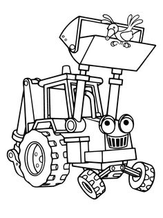 scoop the excavator vehicle coloring pages bob the builder coloring pages kidsdrawing free