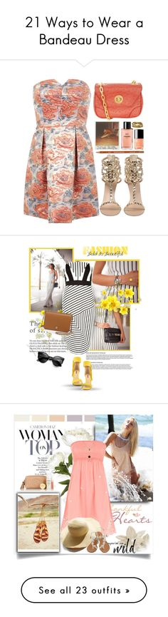 """21 Ways to Wear a Bandeau Dress"" by polyvore-editorial ❤ liked on Polyvore"