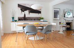 DIY FLOATING SIDEBOARD-IKEA over refrigerator cabinets. White Applaad.