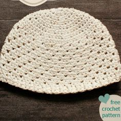 Have Hope Hat in Cotton | AllFreeCrochet.com