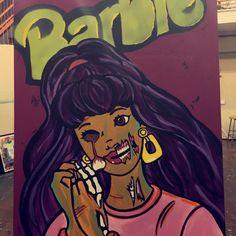 Zombie Barbie, Zombie Crafts, Barbie Drawing, Ipad Art, Artist Names, Girl Face, Black Art, Art Day, Fantasy Art