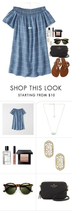 """""""Going out to dinner:)"""" by flroasburn on Polyvore featuring Abercrombie & Fitch, Kendra Scott, Bobbi Brown Cosmetics, Kate Spade and Tory Burch"""