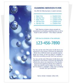 sample flyer for cleaning services