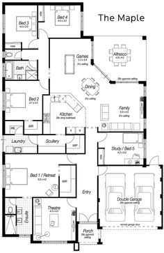Single Storey House Designs Perth | The Maple | Ross North Homes