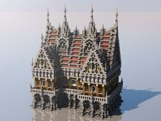 Medieval Mondays Town Hall Minecraft Project - Minecraft, Pubg, Lol and Villa Minecraft, Château Minecraft, Minecraft Shops, Construction Minecraft, Minecraft Kingdom, Minecraft Houses Survival, Minecraft House Designs, Minecraft Blueprints, Minecraft Creations