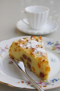 Torta di semolino e ricotta all'arancia