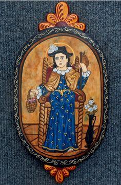 Santo Nino de Atocha Retablo by Catherine Robles Shaw