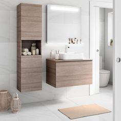 Home Furniture Wood Ultra Modern Furniture Bathroom Design Small, Bathroom Interior Design, Modern Bathroom, Bathroom Sink Vanity, Bathroom Storage, Washbasin Design, Upstairs Bathrooms, Shower Remodel, Bathroom Furniture