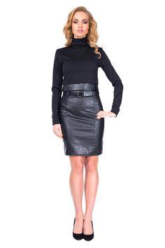Golf SL1040B www.fajne-sukienki.pl Black Leather Skirts, Leather Dresses, Pretty, Workwear, Sexy, Fashion, Moda, Work Wear, Fashion Styles